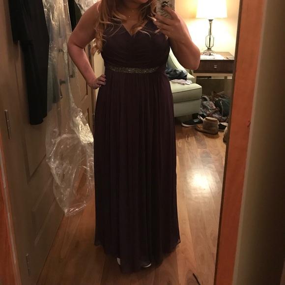 David's Bridal Dresses & Skirts - Plum Purple Bridesmaid Dress